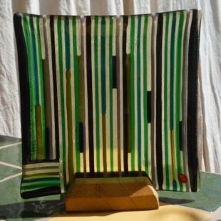 Stripes - Green Teal and Black - C9,500
